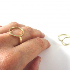 anillo círculo latón brillo