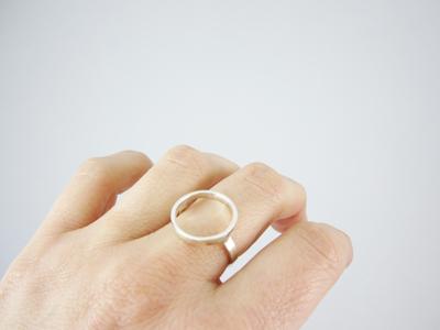 anillo círculo plata mate