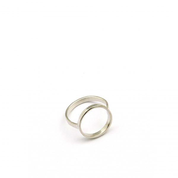 anillo círculo plata brillo