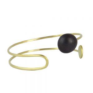 brazalete en negro Colección Calder