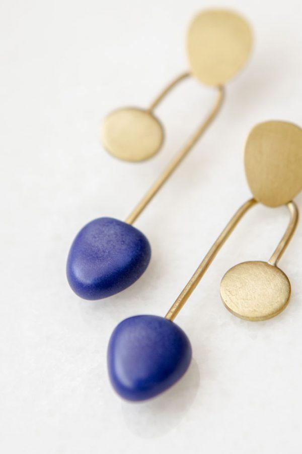 pendientes en cobalto Colección Calder