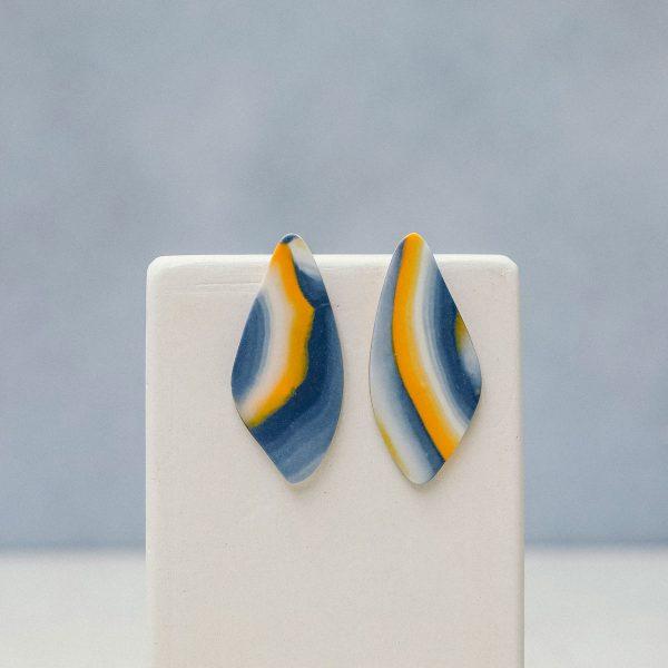 Pendientes de porcelana artesanales