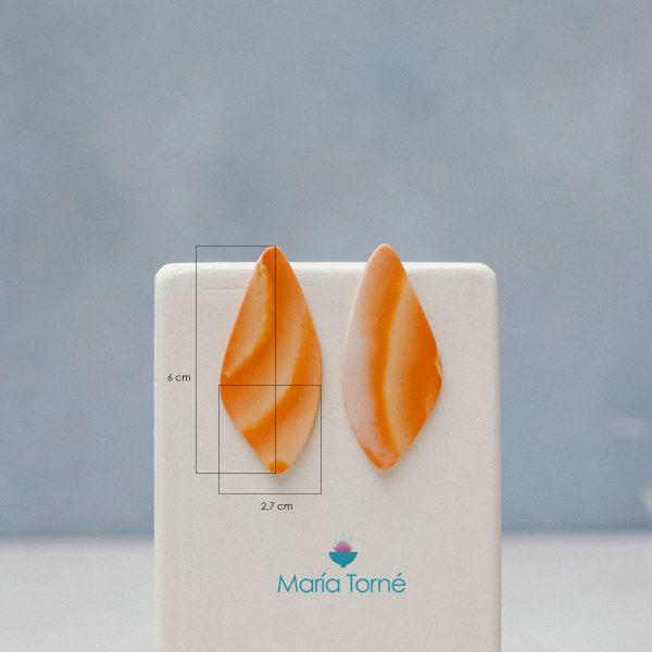 medidas pendientes porcelana naranja