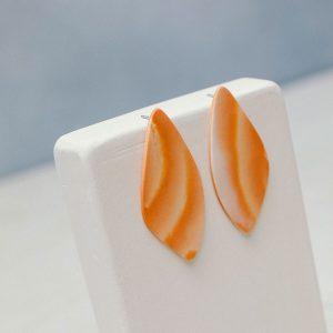pendientes porcelana naranja
